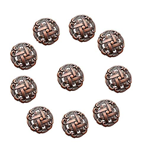 CSKB Bronze 10PCS1.4 Celtic Scottish Shield Shape Knob Vintage Kitchen Cabinet Cupboard Drawer Dresser Pull Handle