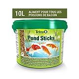 Tetra Pond Sticks – Alimentation Quotidienne idéale pour tous les Poissons de Bassin – Enrichi en Oligo-éléments, Vitamines essentiels, Caroténoïdes – Ne pollue pas l'eau - 10L