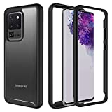 TGOOD Samsung Galaxy S20 Ultra Case, Galaxy S20 Ultra Case Heavy Duty Protection Full Body Shockproof Slim Fit Without Built-in Screen Protector Cover for Samsung Galaxy S20 Ultra 5G 6.9 inch-Black