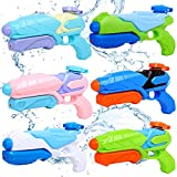 JUOIFIP Water Guns for Kids, 6 Pack Super Squirt Guns Water Soaker Blaster Long Range 200CC Toys Gifts for Boys Girls Children Adults Summer Swimming Pool Beach Sand Outdoor Water Fighting Play Toys