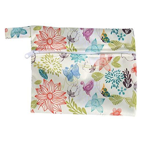 Sanitaire Pad 1PC Wasbare Natte Tas + 6 Stks Herbruikbare Bamboe Doek Sanitaire Menstrual Pads Panty Liner