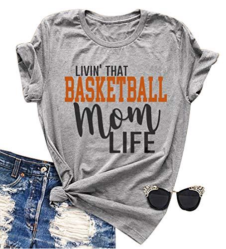 YUYUEYUE Linvin' That Basketball Mom Life T Shirt Women...