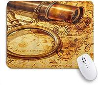 NIESIKKLAマウスパッド ビンテージ虫眼鏡懐中時計望遠鏡 ゲーミング オフィス最適 高級感 おしゃれ 防水 耐久性が良い 滑り止めゴム底 ゲーミングなど適用 用ノートブックコンピュータマウスマット