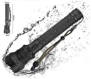 Smavlfs Led Flashlight 10000 Lumens Powerful Flashlight Usb Rechargeable Battery Waterproof 2x 8000 Hunting Lamp Hand Light