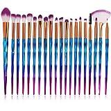 Einhorn Makeup Pinsel Set, INTVN 20 Stücke Lidschatten Make Up Pinsel Set, Pulver Foundation Rouge Lidschatten Blending Pinsel