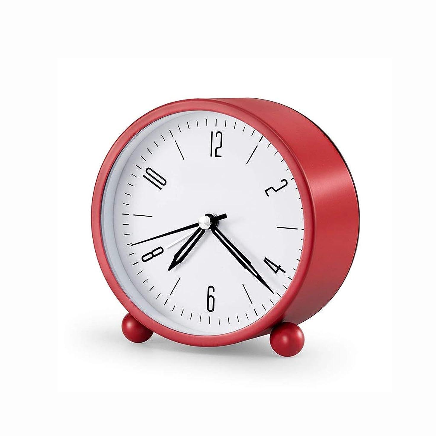 署名スロープタイプライター電子目覚まし時計大音量アラームアラーム超大怠惰な目を覚ます目を覚ます学生のベッドサイドクロック (色 : 赤)