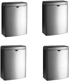 Bobrick B-270 Stainless Surface Mounted Sanitary Napkin Disposal (Pack of 4)