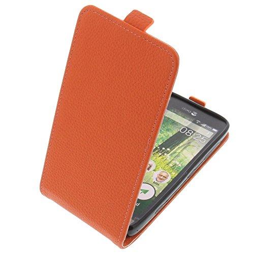 foto-kontor Tasche für Doro Liberto 825 Smartphone Flipstyle Schutz Hülle orange