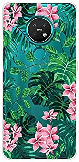 Aksuo for Nokia 7.2 Case,Women Girls boy Men Printed Transparent Clear Design Plastic Case with TPU Bumper Protective Cover,Spring Flower Bloom