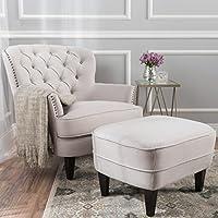 Christopher Knight Home Tafton Tufted Fabric Club Chair w/Ottoman