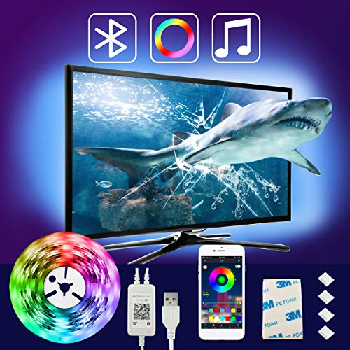 LED Strip Lights 96FT USB Powered MESUN Bluetooth Color Changing Lighting with APP Control LED Lights Music Sync Multicolor Led Light Strips for Desk TV PC Case Home Decoration