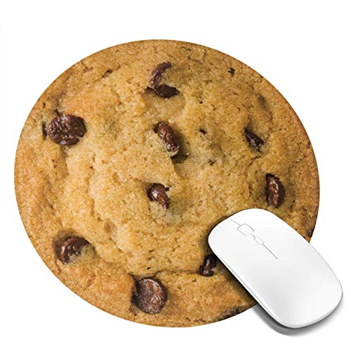 Mouse Pad,Clipart Chocolate Chip Cookie,Non-Slip Rubber Base Mousepad with Stitched Edge, Waterproof Office Mouse Pad
