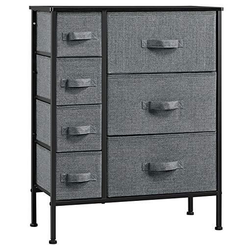 Yaheetech 7-Drawer Dresser Storage Tower Unit Now $49.49