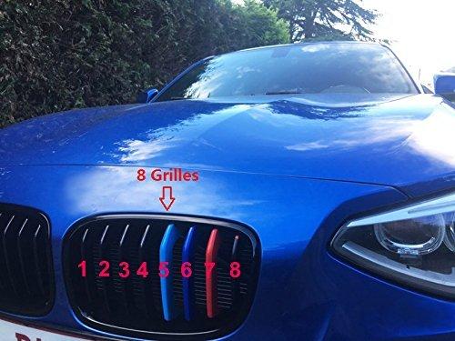 Asdomo 2 Pezzi 3D M Auto griglia Anteriore Inserto Decorativo Trim Motorsport Strisce di Copertura Adesivi per BMW E46 Serie 3 4 Porte 2002 2005 Auto Styling