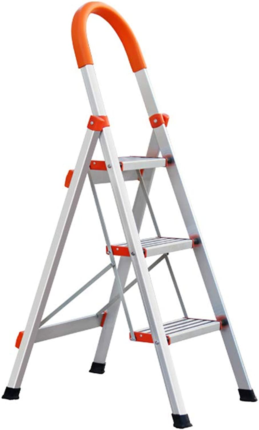 LIYONG Household Ladder Aluminum Folding Ladder Anti-Skid Pedal