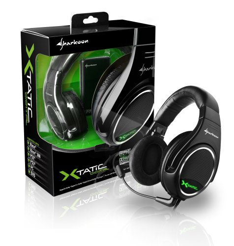 Sharkoon SHK Headph-1 X-Tatic Digital 5.1 Dolby Certified 8 Speakers Headphones Retail