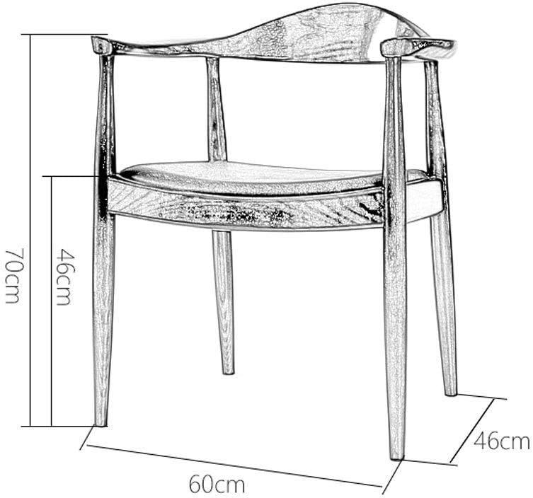 YUMUO Chaises de Salle à Manger Siège à Coussin Souple avec Jambes en Bois Chaises de Cuisine pour chaises de Salle à Manger et de Salon (Couleur: B) 2