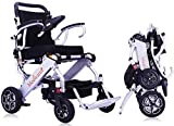 Medwarm Portable Lightweight Electric Wheelchair, Compact Power Wheelchair(Net Weight 48lbs Support to 260lbs),Travel Motorized Wheelchair