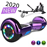 SOUTHERN-WOLF Hoverboard, Bluetooth 6.5 Pouces Self Balancing Scooter Gyropode avec Roues Flash LED E-Scooter z29 (Purple)