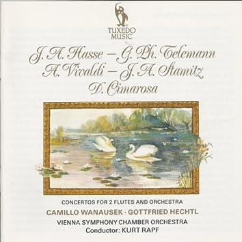 Hasse, Telemann, Vivaldi, Stamitz & Cimarosa: Concertos for Two Flutes