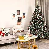 Yorbay künstlicher Weihnachtsbaum mit Beleuchtung weiß Schnee LED Tannenbaum für Weihnachten-Dekoration (210CM) - 9