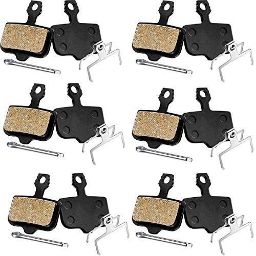 Binjor 6 Pairs Bicycle Disc Brake Pads Organic Resin semi-metal Brake clip clamp Suitable for E1 E3 E5 E7 E9 CR ER X0 XX DB1 DB3 DB5 black