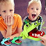 MEALLING Crocodile Teeth Toys Game for Kids, Crocodile Biting Finger Dentist Games Funny Toys, Mini Chomping Alligator Teeth Fun Family Tabletop Party Kids Toy (B)