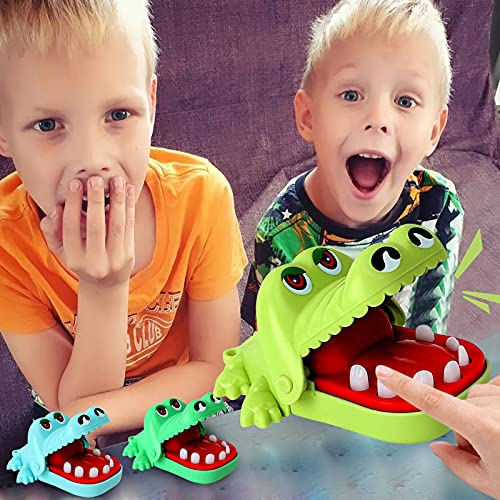 YQWEARLL Crocodile Novelty Toy Classic Big Mouth Dentist Bite Finger Family Game Kids Game Toys,...