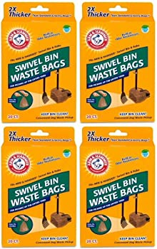 Arm & Hammer Swivel Bin Waste Bags 80ct  4 x 20ct