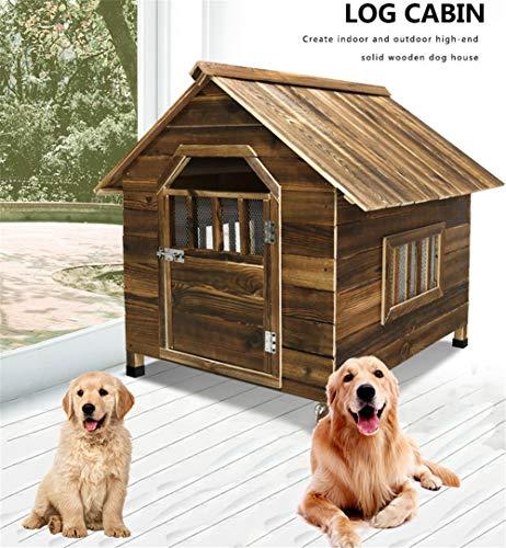 ACLBB Holz Dog House Modernen Wetterfest HundehüTten s Perfekt FüR Kleine Haustiere Outdoor Innen Haustierhau 3 GrößEn Zur Wahl,XXL