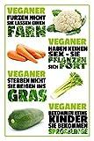 FANGJIA Letrero de metal retro con texto en inglés 'Vegan Farm', diseño vintage de granja vegana para decoración de pared para bares, restaurantes, cafeterías, pubs, café y café, 20 x 30 cm