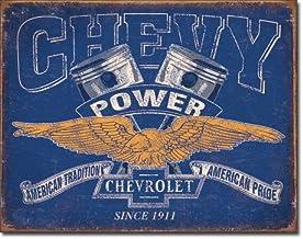 "Chevrolet Chevy Genuine Parts 17.5/"" Metal Tin Sign Vintage Garage Man Cave New"