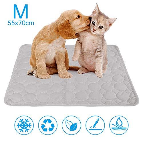 NIBESSER Kühlmatte für Hunde strapazierfähige Kühlmatte für Haustiere Hundekühlmatte Selbstkühlende Kissen ideal für Hunde Katzen im heißen Sommer
