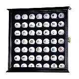 49 Golf Ball Display Case Cabinet Wall Rack Holder w/98% UV Protection Lockable Black
