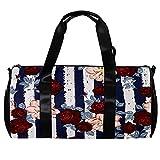 Bolsa de viaje para mujeres hombres acuarela patrón de flores deportes gimnasio bolsa bolsa de viaje de fin de semana durante la noche bolsa de equipaje al aire libre