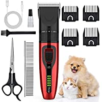 Aushen Pet Rechargeable Cordless Grooming Clippers Kit