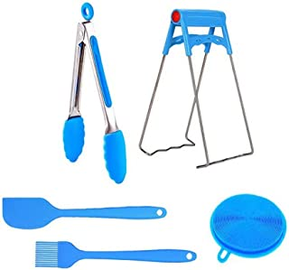 Accessories for Instapot Compatible with Pressure Cooker Includes Silicone Spatula Set, Dish Plate Clip, Kitchen Tongs, Silicone Sponge