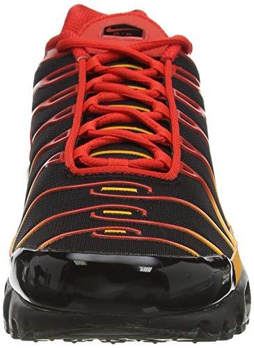 Nike Air MAX Plus, Zapatillas para Correr Hombre, Black Chile Red Vivid Orange, 42.5 EU
