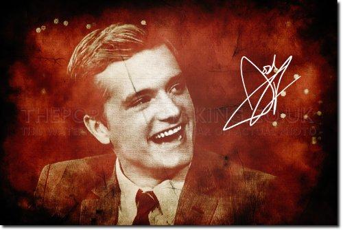 Josh Hutcherson Kunstdruck (mit signierter Autogramm Nachbildung) Hochglanz Poster - Größe: 12 x 8 Inches (30x20cm)