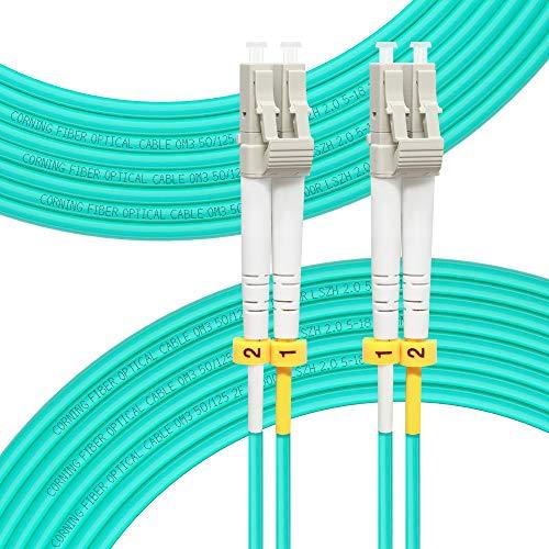 FLYPROFiber Fiber Optic Cables LC to LC OM3 10Gb Multimode Duplex...