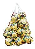 YJZQ Filet à Ballons Football Sac à Transport Filet en Nylon Basket-Ball Sac de Rangement pour 15 Football Sac de Transport tressé