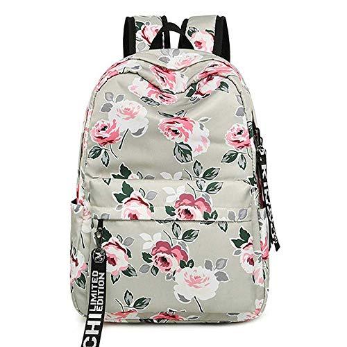DAGUAI Classical Casual Daypack Backpacks Floral School Bag Backpack for Girls Teenager College School Students Satchel Book Bag Women Laptop Bag Waterproof Travel Rucksack Casual Daypack Gift