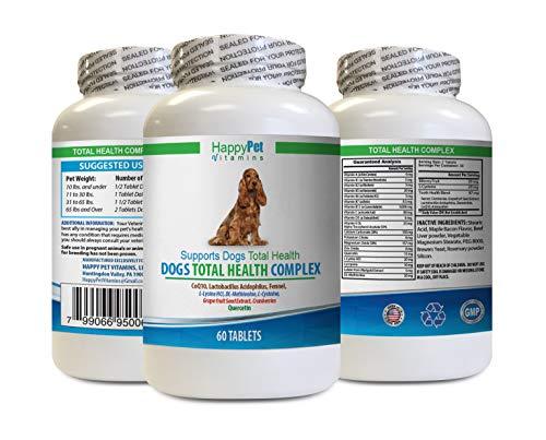 HAPPY PET VITAMINS LLC Dog UTI Pills - Dogs Total Health Complex - Natural - Best Hair Coat Immune Eye Teeth UTI Health - Dog Vitamin Powder - 1 Bottle (60 Treats)
