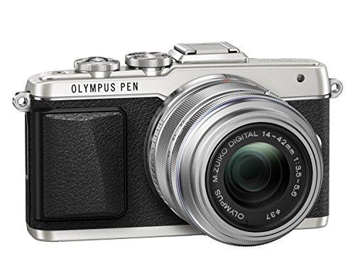 Olympus PEN E-PL7 Kompakte Systemkamera (16 Megapixel, elektrischer Zoom, Full HD, 7,6 cm (3 Zoll) Display, Wifi) inkl. 14-42 mm Objektiv silber/silber