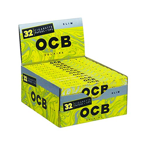 24pc Display - OCB® Solaire Slim Rolling Papers & Tips