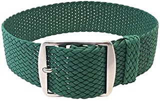 Wrist and Style Perlon Watch Strap - Green | 22mm