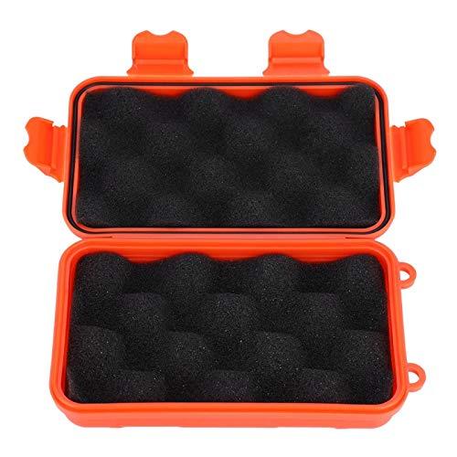 Hoseten Caja de Supervivencia Caja de Almacenamiento a Prueba de Polvo para Exteriores Caja de Almacenamiento para(Orange, Small)