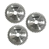 Antrader 4-1/5' Diameter 40 Toothed Circular Saw Cutter for Woodworking Pack of 3