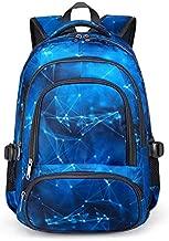 BLUEFAIRY Boys Backpack for Kids Elementary School Bags Kindergarten Middle School Bookbags Lightweight Durable Girls Gift (Stars,Blue)