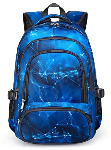 BLUEFAIRY Boys Backpack for Kids Elementary School Bags Kindergarten Middle School Bookbags Lightweight Durable Girls Gift (Stars,Blue)